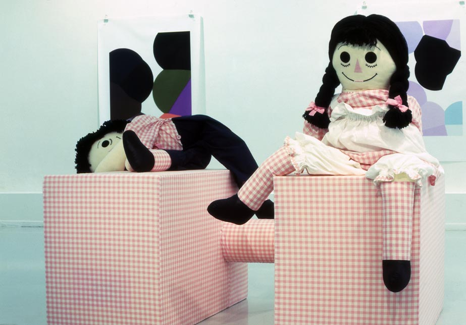 Sophia Kosmaoglou You Don't Have To Say Please, 1998. Polyester foam & stuffing, fabric, silk stuffing, wool, 170 x 200 x 125 cm