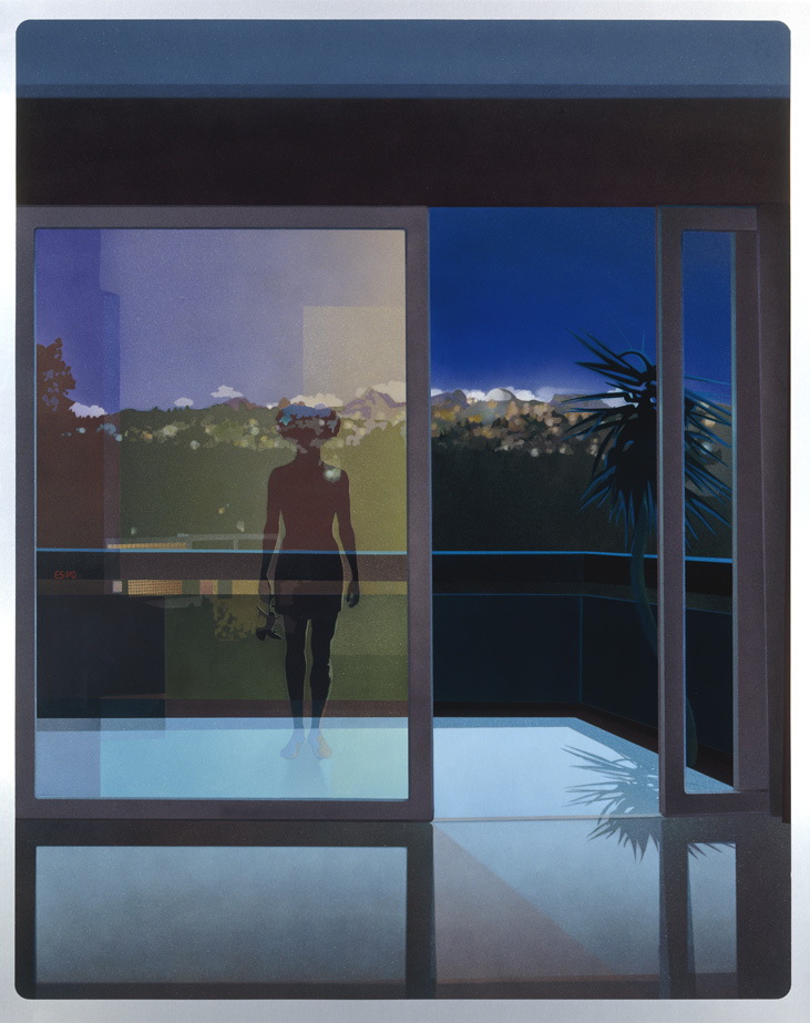 Sophia Kosmaoglou Lost Weekend, 2001. Automotive acrylic enamel on aluminium, 155 x 125 cm