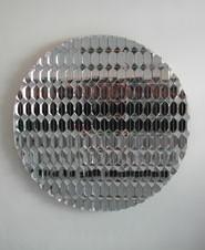 Sophia Kosmaoglou Leng Tch'e, 2002. Wood, mirror, 159 x 159 x 14 cm