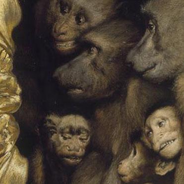 Gabriel Cornelius von Max [1889] Monkeys as Judges of Art (detail)