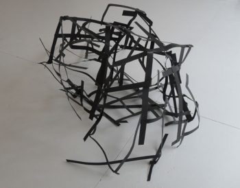Maria Christoforatou [2009] Collapsed. Metal strips, dimensions variable.