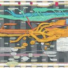 Ward Shelley [2008] Who Invented the Avant Garde, ver. 2. Oil and toner on mylar, 28.5 x 62.5 inches.