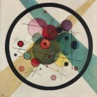 Wassily Kandinsky [1923] Circles in a Circle. Oil on canvas, 98.7 x 96.6 cm.
