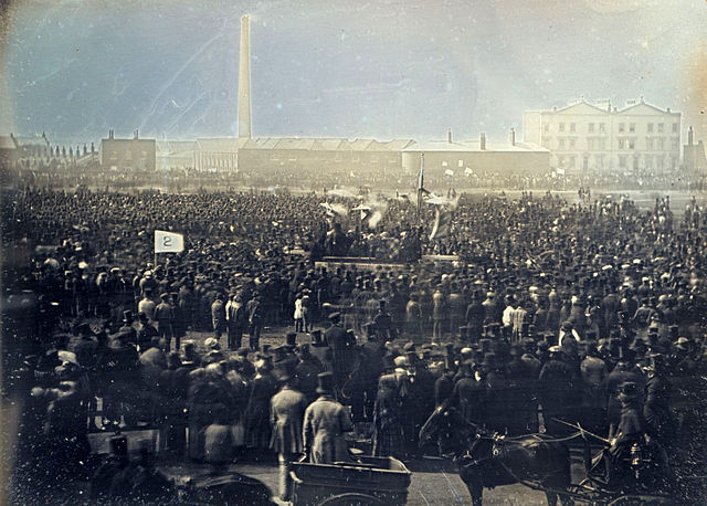 Chartist Meeting on Kennington Common, 10 April 1848. Photo by William Kilburn.