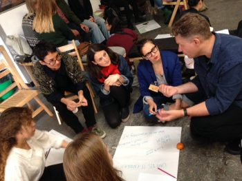 ART&CRITIQUE workshop, First Alternative Education Open-Day 2017. Photo Maria Christoforatou.