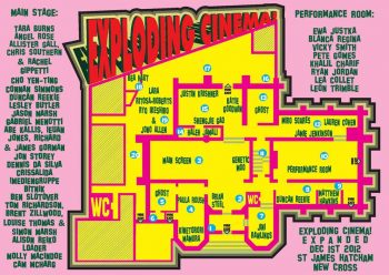 Exploding Cinema E-X-P-A-N-D-E-D, 1 Dec 2012, St James Hatcham, New Cross, Floor Plan.