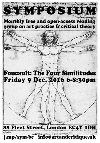 [SYMPOSIUM]#13 Foucault The Four Similitudes, 9 Dec 2016, MayDay Rooms.