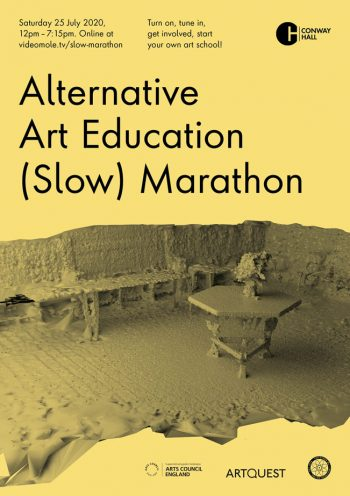 Alternative Art Education (Slow) Marathon, 25 July 2020. Flyer by Models and Constructs