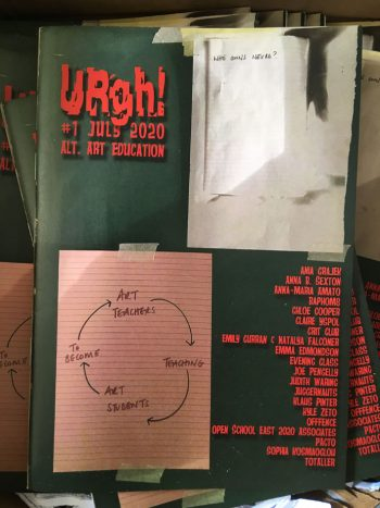URgh!#1 July 2020 on Alt. Art Education. Front Cover by Emma Edmondson