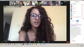 Jessica El Mal (Into the Wild), Open Discussion on Online education, Labour + Cooperation (TOMA, AltMFA, Into the Wild)