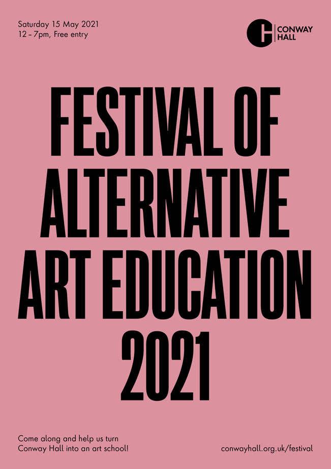 Festival of Alternative Art Education, March 2021. Flyer by Models and Constructs